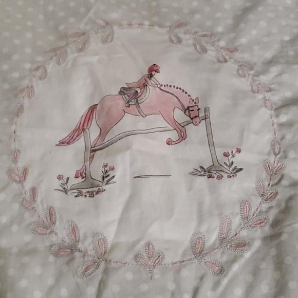 Pottery Barn Laura horse queen duvet